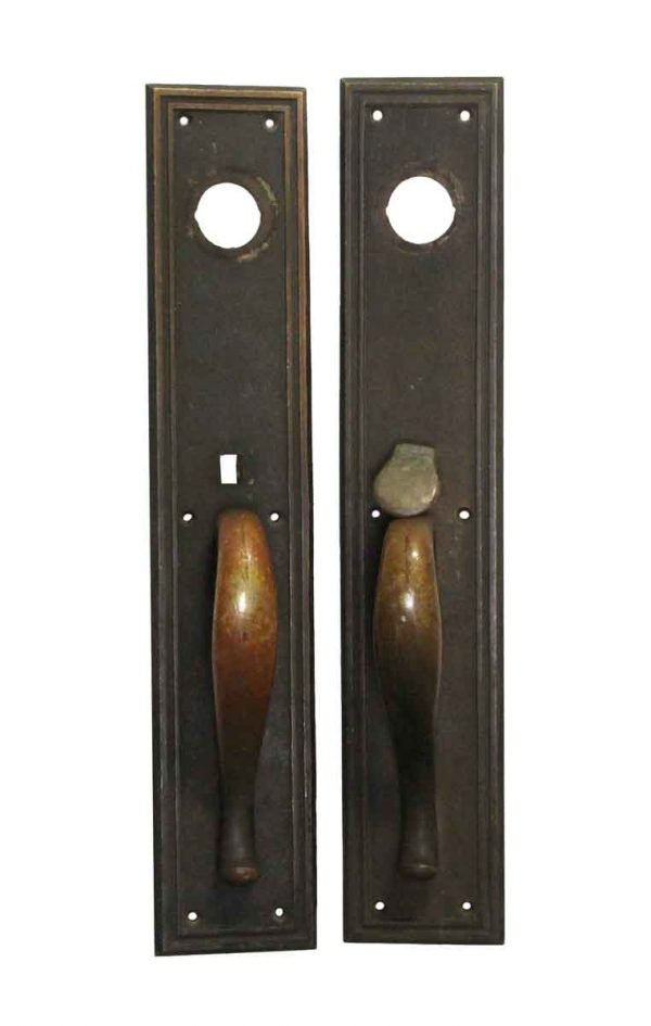 Door Pulls - Pair of 16 H Bronze Reading Door Pulls