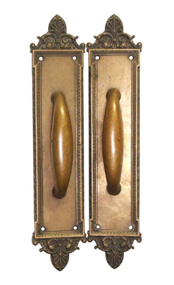 Door Pulls - Pair of Bronze Decorative Door Pulls