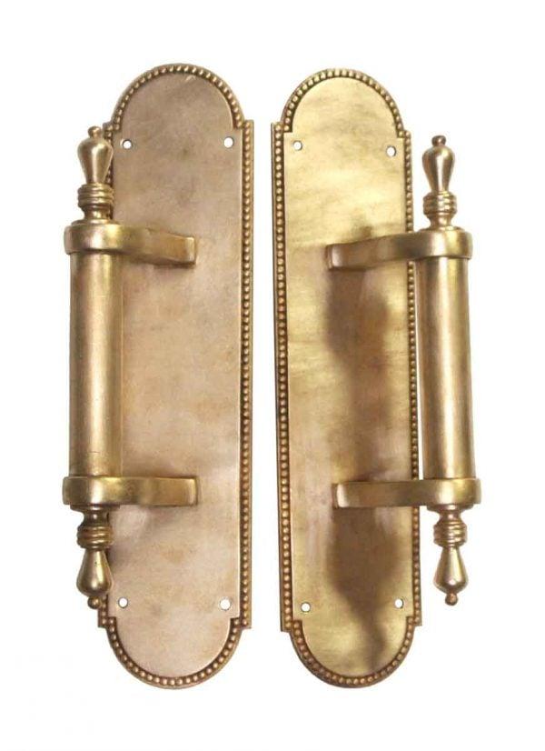 Door Pulls - Pair of Polished Bronze Door Pulls