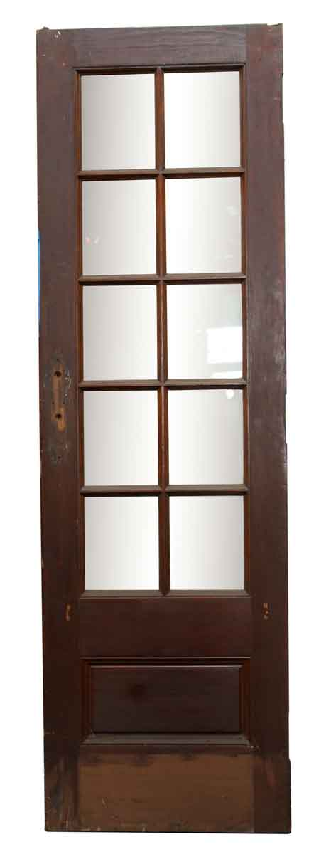 French Doors - 10 Lite Wood Antique French Doors 82.75 x 25.5