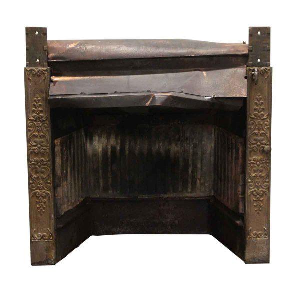 Heating Elements - Antique Brass Decorative Fireplace Insert Grate