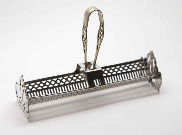 Kitchen - Silver Sugar Cube Tray with Tongs