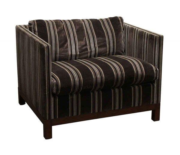 Living Room - Dessin Fournir Striped Chair with Pillow