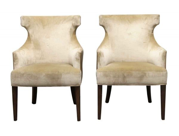 Living Room - Pair of Late Century Wing Back Chairs