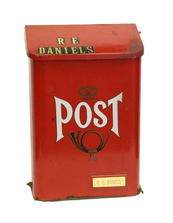 Mail Hardware - Reclaimed Red Metal Mailbox Post