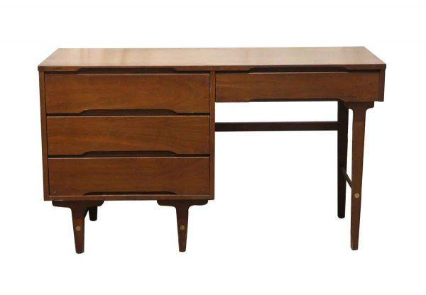 Office Furniture - Stanley Furniture Mid Century Modern 4 Drawer Wooden Desk