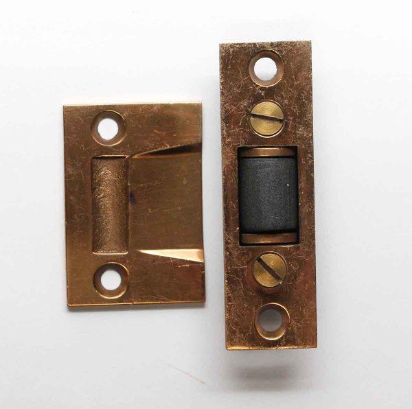 Other Cabinet Hardware - Vintage Brass Door Tension Roller Catch