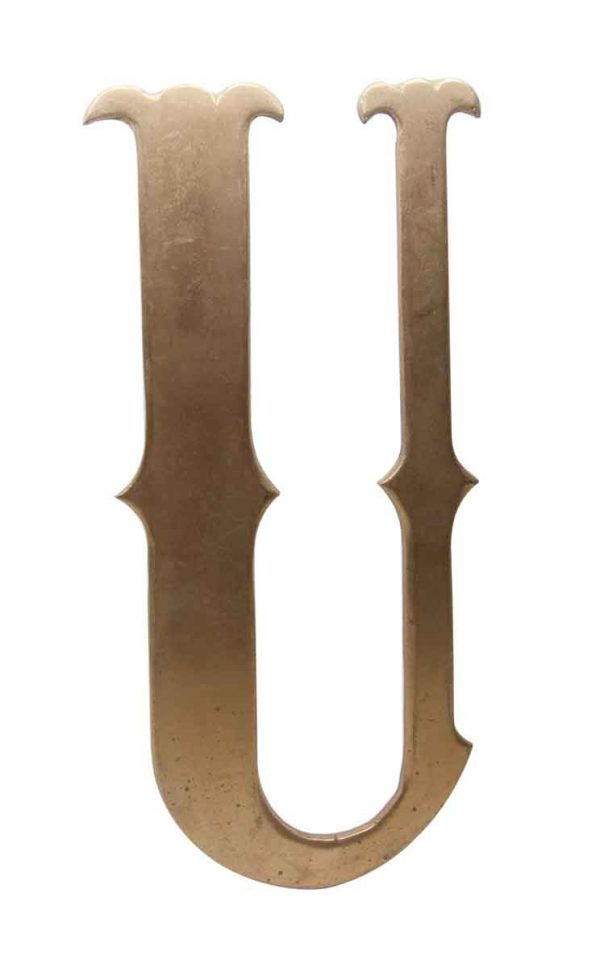 Other Hardware - Large 11.5 in. Solid Brass Letter U