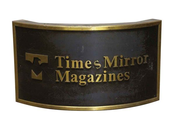 Other Wall Art  - Curved Times Mirror Magazines Sign