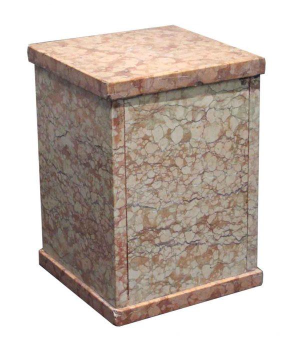 Pedestals - Vintage Rose Marble Pedestal