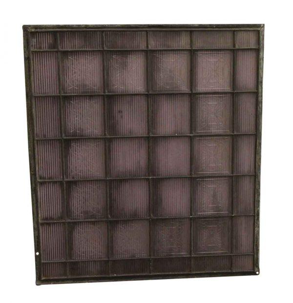 Reclaimed Windows - 24.5 x 22 Frank Lloyd Wright Luxfer Unframed Purple Glass Panel