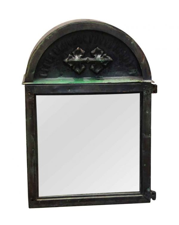 Religious Antiques - Gothic Alter Box with Mirrored Front