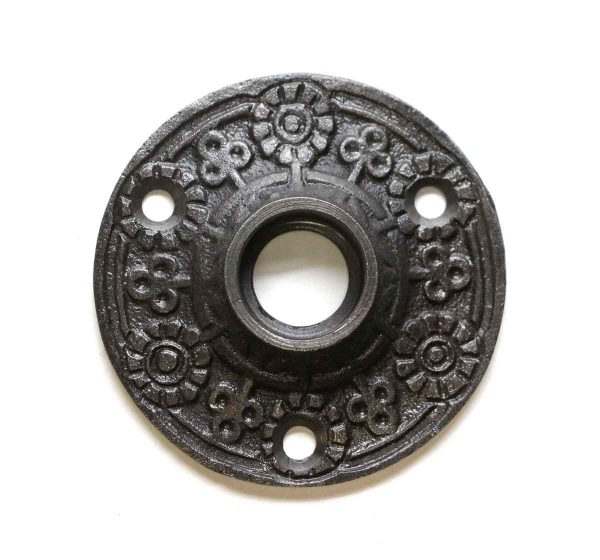 Rosettes - Cast Iron Floral Reproduction Door Rosette