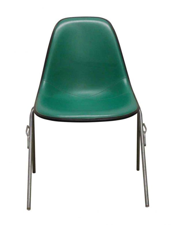 Seating - 1950s Green Vinyl & Metal Chair