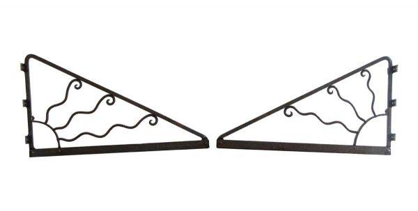 Shelf & Sign Brackets - Wrought Iron Pair of Antique Brackets