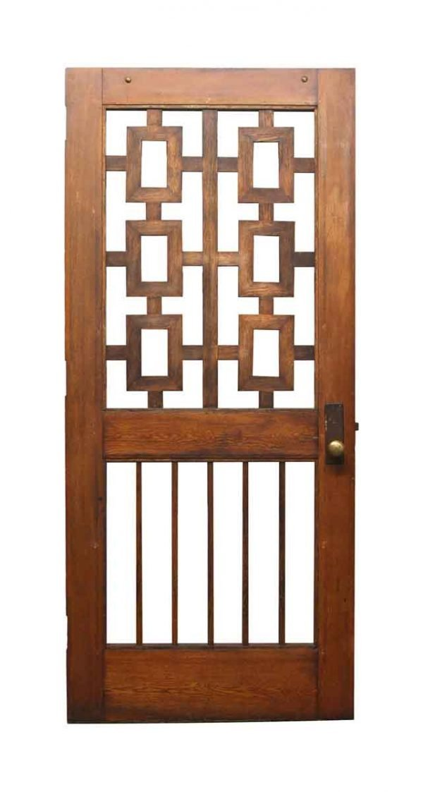 Specialty Doors - Unique Mid Century Walnut Door 85.75 x 37.75