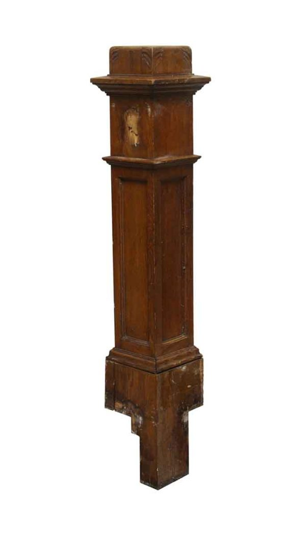 Staircase Elements - 46 in. H Carved Wood Newel Post