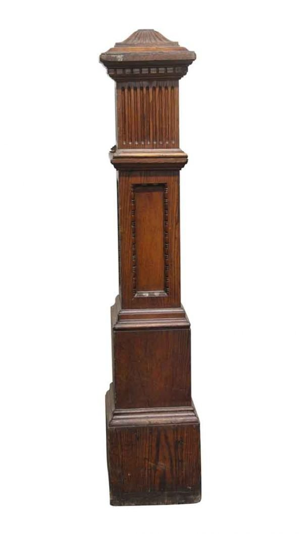 Staircase Elements - 60.5 in. H Carved Wooden Staircase Post