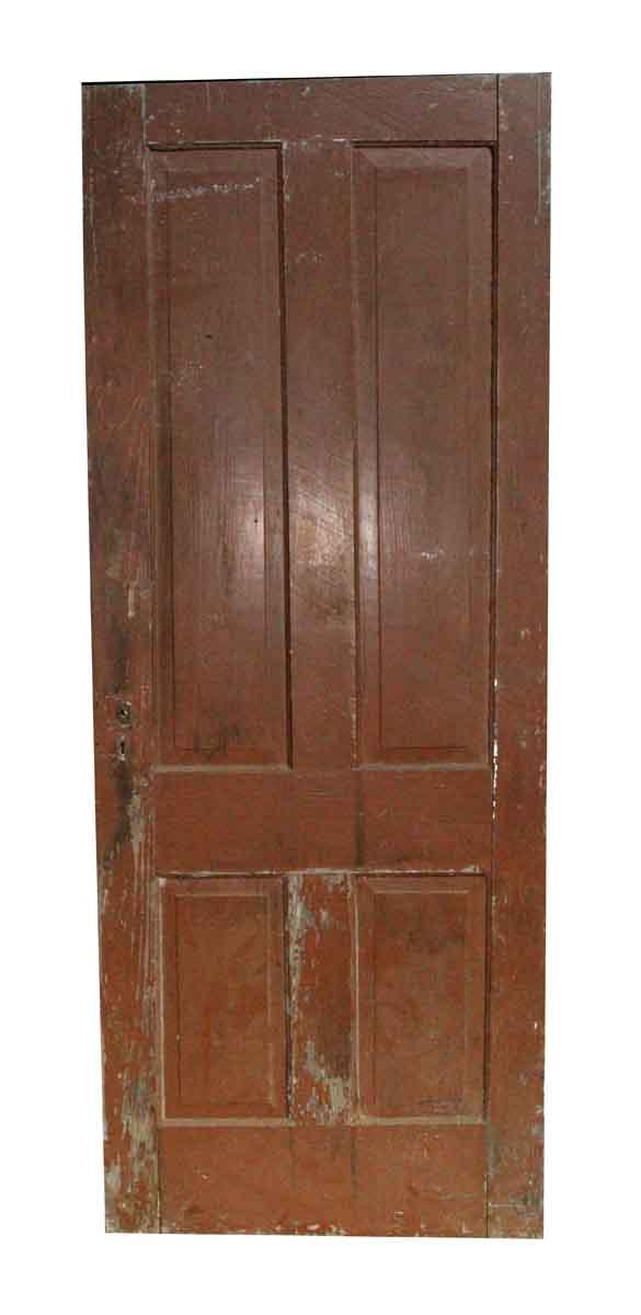 Standard Doors - Four Panel Interior Antique Door 79.75 x 31.125