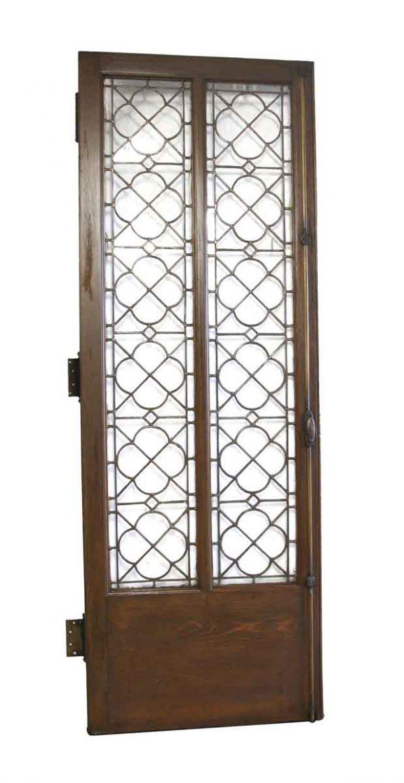 Standard Doors - Solid Oak Door with Intricate Leaded Quatrefoil Glass
