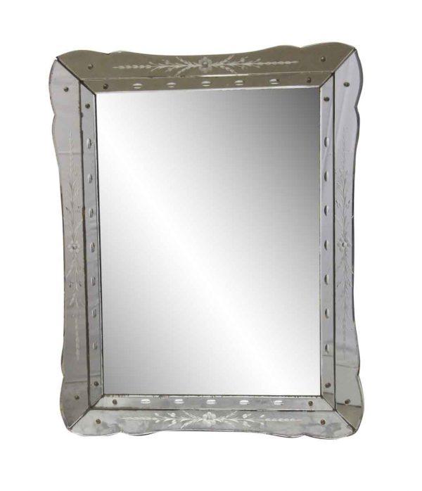 Antique Mirrors - 1950s Venetian Style Wall Mirror