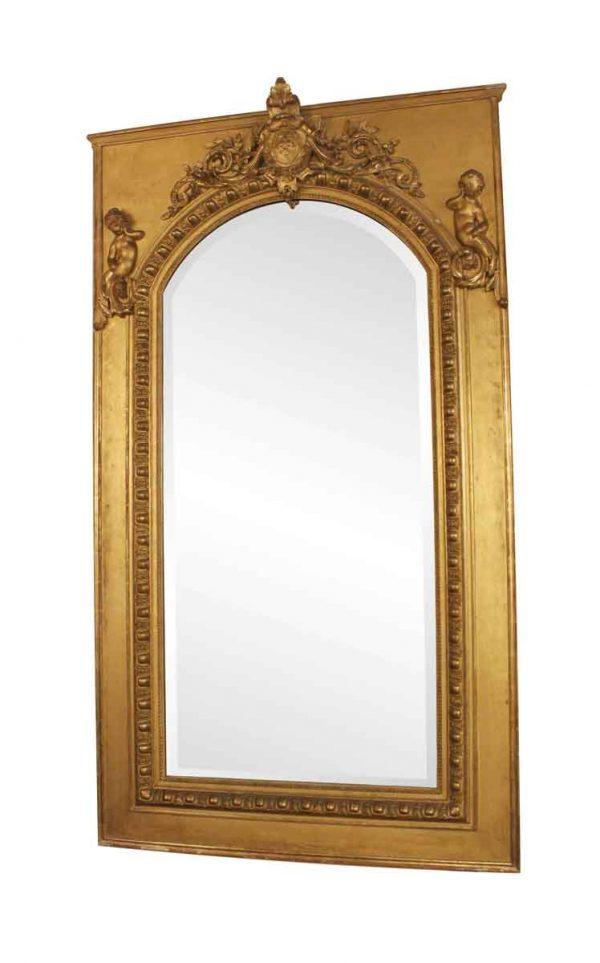 Antique Mirrors - 19th Century French Gilt Mirror with Cherub Detail