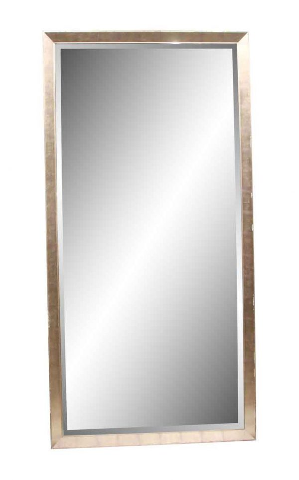 Antique Mirrors - Reclaimed Commercial Brushed Nickel 8 ft x 4 ft Mirror