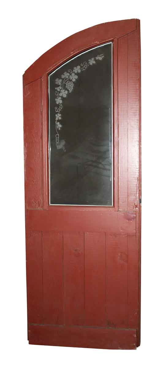Arched Doors - Half Arch Door with Etched Glass 77.75 x 28.5