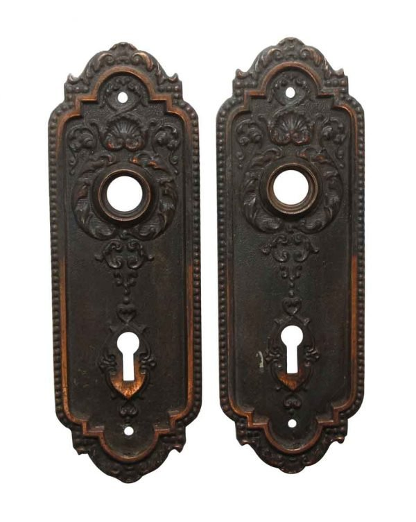 Back Plates - Sargent Victorian 6.5 in. Brass Passage Door Back Plates