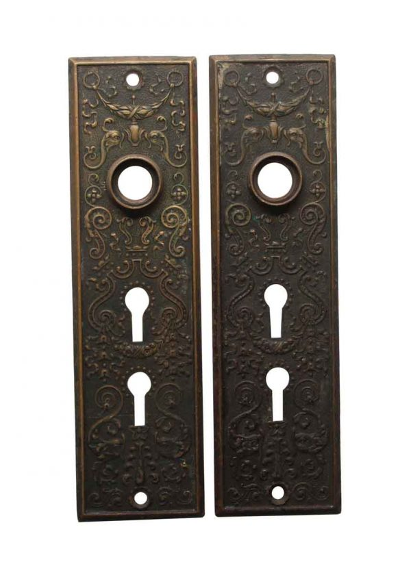 Back Plates - Victorian Brass 7.25 in. Entry Door Back Plates