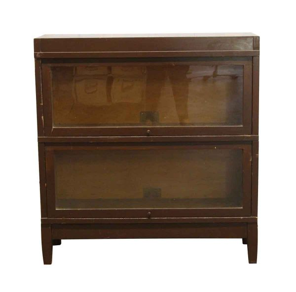 Bookcases - Vintage Two Tier Barrister Bookcase