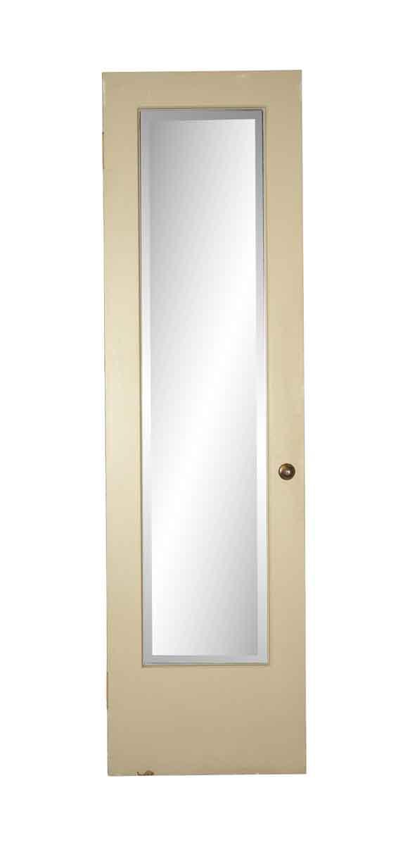 Closet Doors - Antique Pine Closet Door with Beveled Mirror 84 x 23