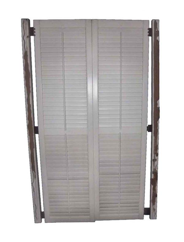 Closet Doors - Vintage Pine Louver Closet Door Set 72.5 x 38.5