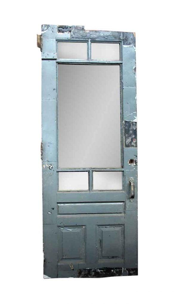 Commercial Doors - Antique 3 Panel 5 Lite Commercial Metal Door 99.5 x 38