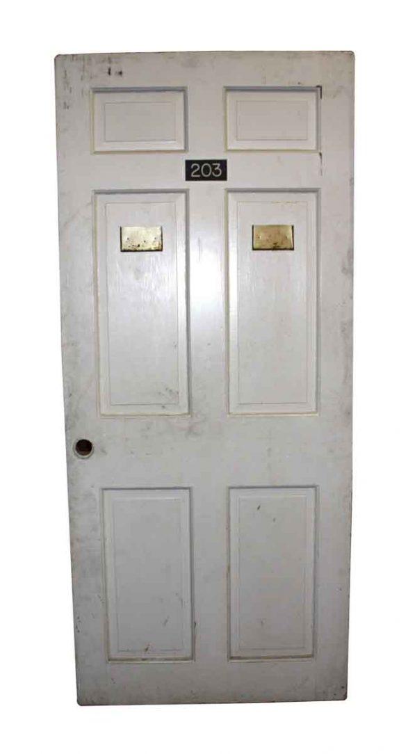 Commercial Doors - Vintage 6 Vertical Panel Apartment Door 82.5 x 36