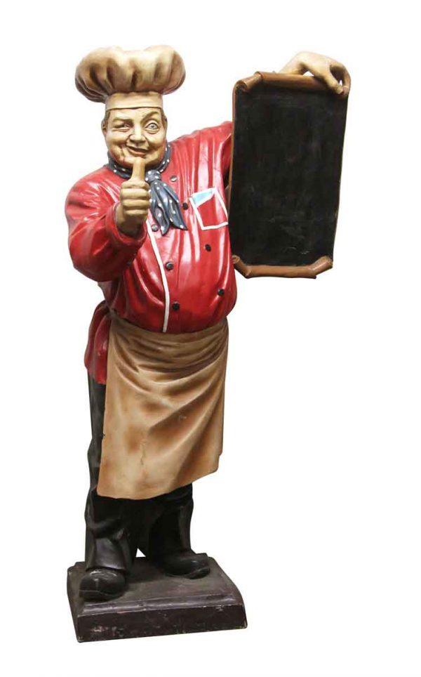 Commercial Furniture - Italian Restaurant Menu Board Cook Statue