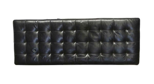 Commercial Furniture - Vintage Black Leather Bench Cushion