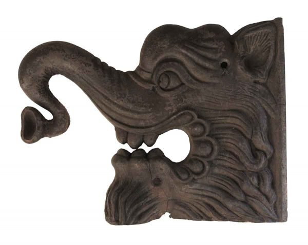 Decorative Metal - Cast Iron Elephant Head Relief