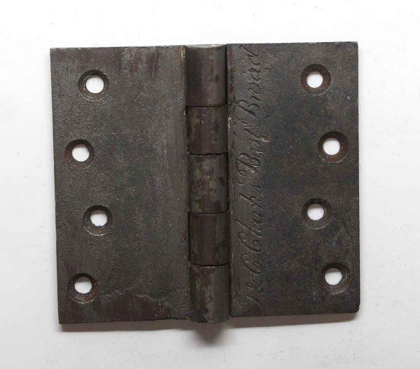 Door Hinges - Antique T & C Clark 4 x 4.5 Cast Iron Butt Hinge