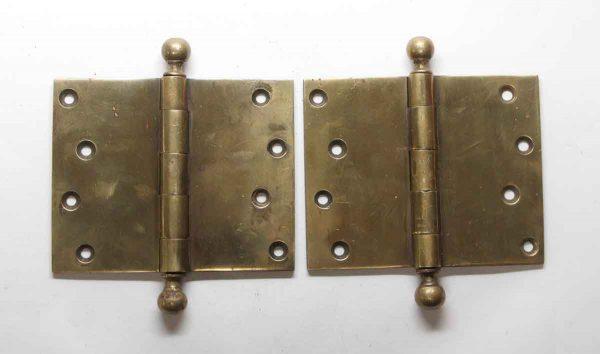 Door Hinges - Pair of 4 x 5 Ball Tip Butt Door Hinges