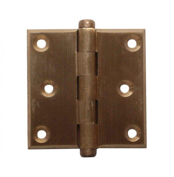 Door Hinges - Vintage 3 x 3 Brass Corbin Butt Door Hinge
