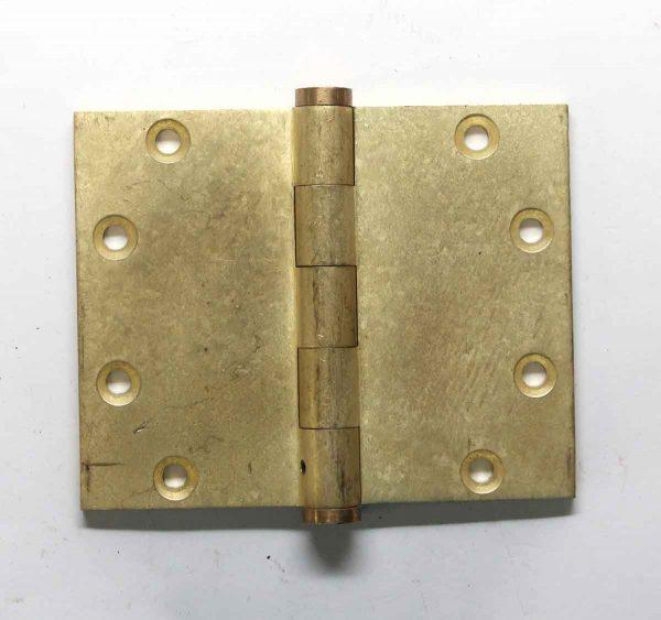 Door Hinges - Vintage 4 x 5 Brass Butt Door Hinge