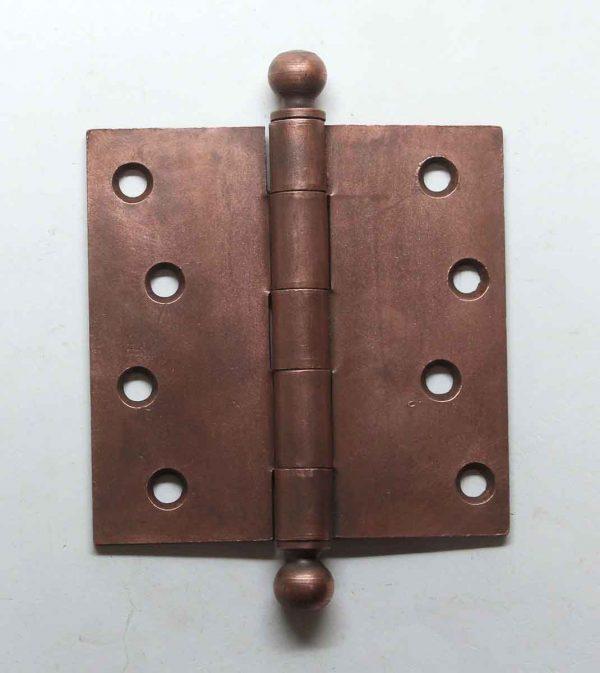 Door Hinges - Vintage Stanley 4 x 4 Ball Tip Steel Butt Door Hinge