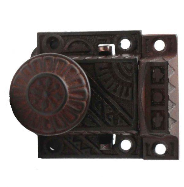 Door Knob Sets - Aesthetic Double Sided Cast Iron Screen Door Latch