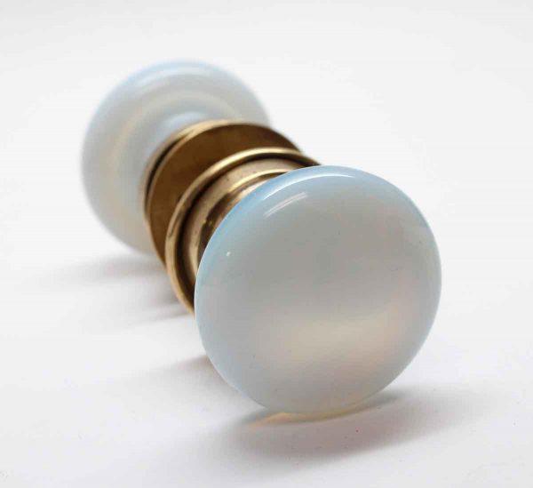 Door Knob Sets - Vintage Opalescent Glass Fixed Door Knob Set