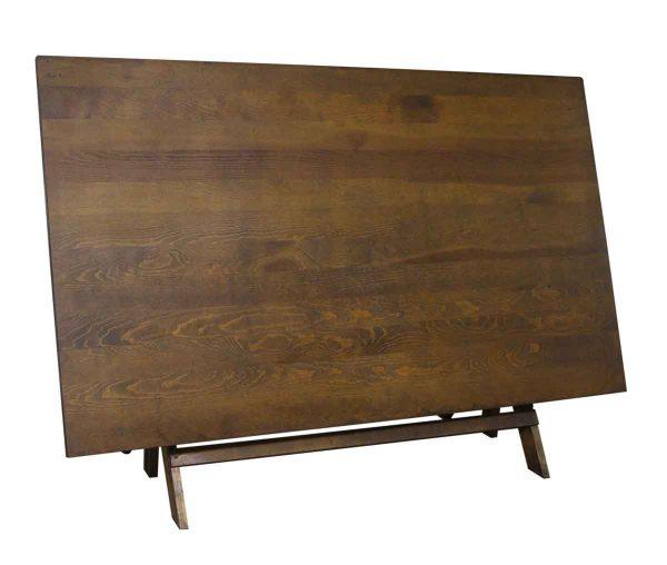 Drafting Tables - Antique Oak Wooden Drafting Desk