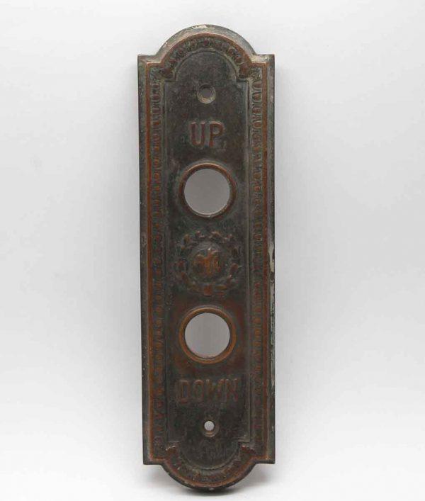 Elevator Hardware - Antique Otis Egg & Dart Raised Elevator Plate