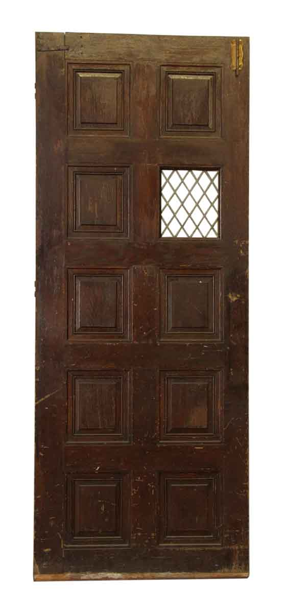 Entry Doors - Antique 10 Panel Tudor Style Entry Door 88.5 x 35