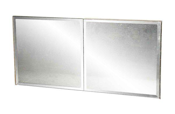 Flea Market - Vintage Beveled Mirror Glass Cabinet Door 19 x 19.5