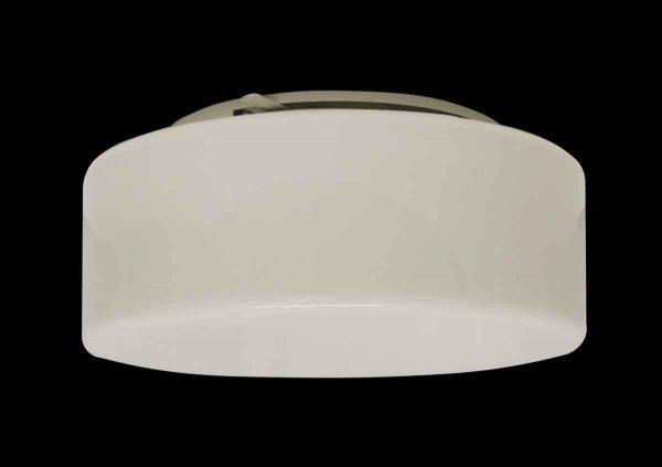 Flush & Semi Flush Mounts - Opaline & Steel White 13.5 in. Flush Mount Light